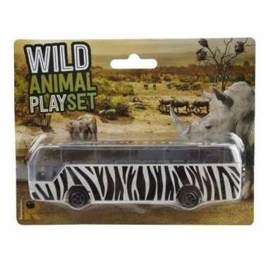 Safari bus zebra print 14 cm