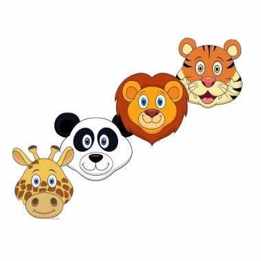 Safari dieren maskers knutselen pakket