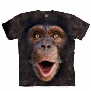 Safari dieren shirts chimpansee jonge aap voor kinderen