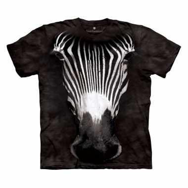 Safari dieren shirts zebra voor volwassenen