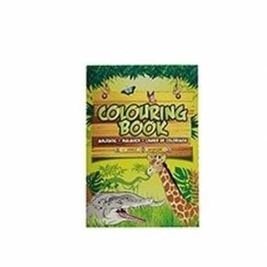 Safari dieren thema a4 kleurboek/tekenboek 24 paginas