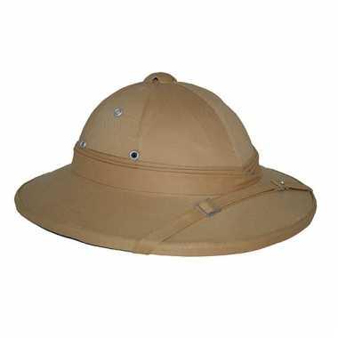 Safari hoed in kaki kleur