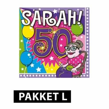Sarah verjaardag feestpakket large