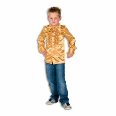 Satijnen blouse goud jongens