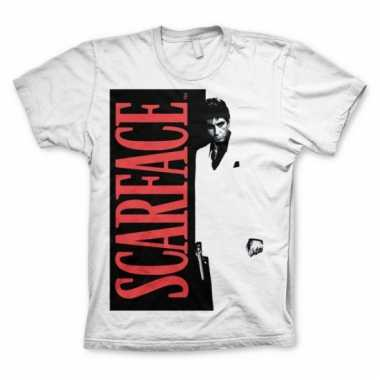 Scarface kleding heren t-shirt wit