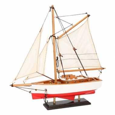 Schaalmodel boot rood/wit 23 cm