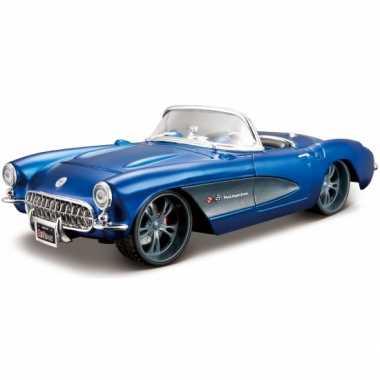 Schaalmodel chevrolet corvette cabrio 1957