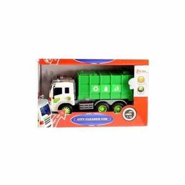 Schaalmodel papier wagen groen