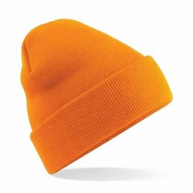 Schaatsmutsen voor volwassenen oranje