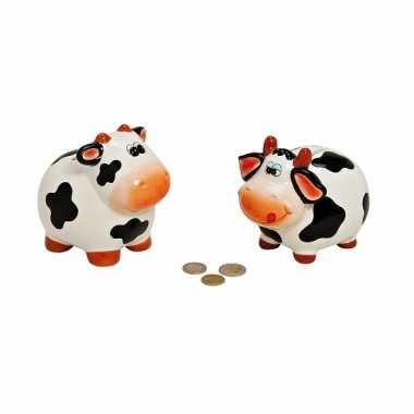 Schattige koeien spaarpot 12 cm