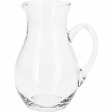 Schenkkan van glas 1 liter