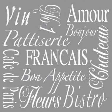 Schilder sjabloon voor franse teksten