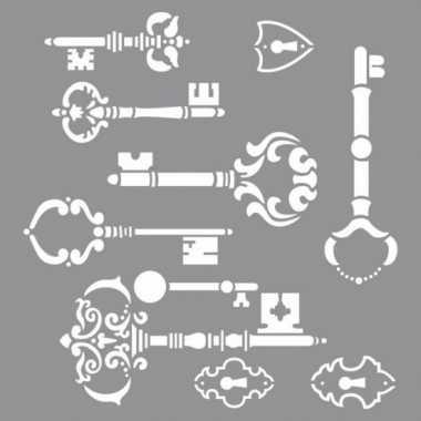 Schilder sjabloon voor sleutels