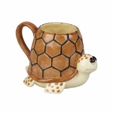 Schildpad koffie/thee mok 10 cm
