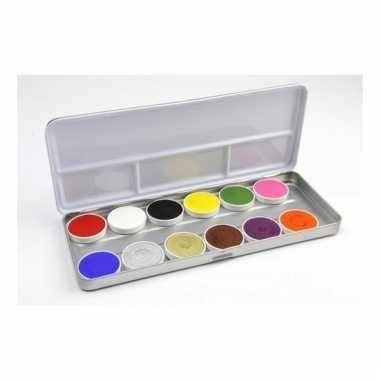 Schmink set met 12 kleuren schmink
