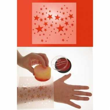 Schmink sjabloon voor uw lichaam sterren