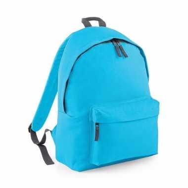 Schooltas turquoise 18 liter