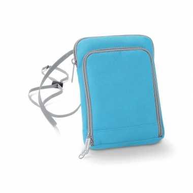 Schoudertasjes blauw van polyester