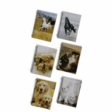 Schrijfboekje a6 golden retriever pup