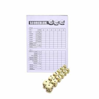 Scoreblok yahtzee inclusief 12 dobbelstenen