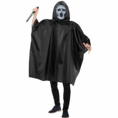 Scream masker met cape voor heren