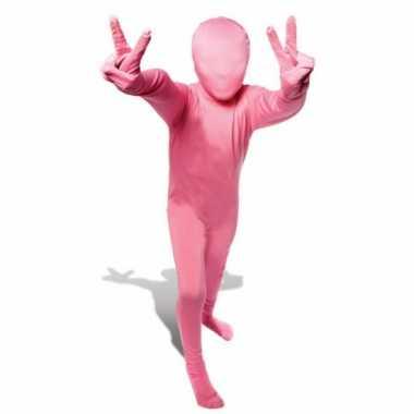 Second skin kinder kostuum roze