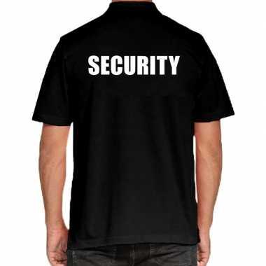 Security poloshirt zwart voor heren