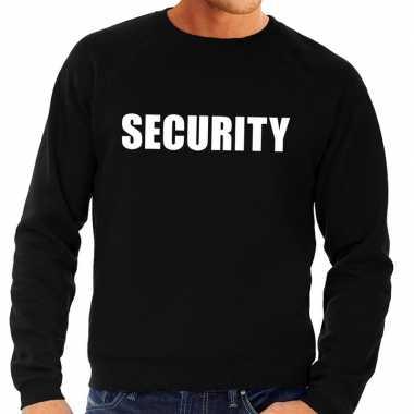 Security tekst sweater / trui zwart voor heren