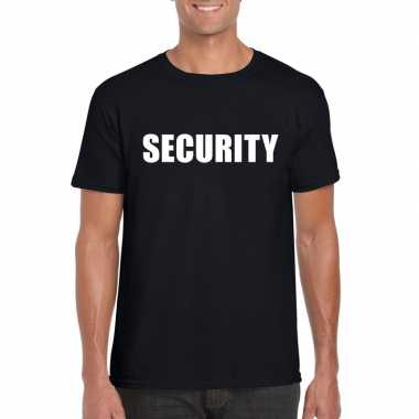 Security tekst t-shirt zwart heren