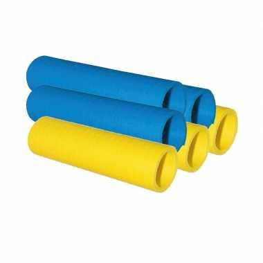 Serpentine rolletjes blauw en geel x 4 meter