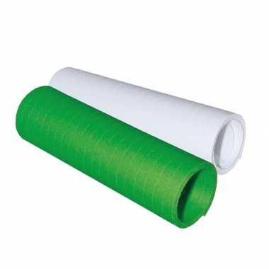 Serpentine rolletjes groen en wit x 4 meter