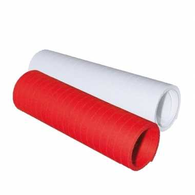 Serpentine rolletjes rood en wit x 4 meter