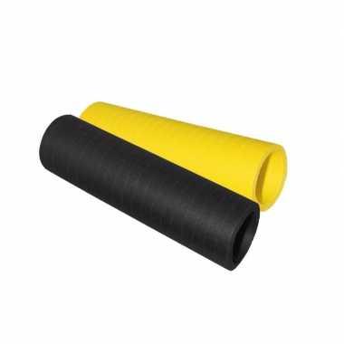 Serpentine rolletjes zwart en geel x 4 meter