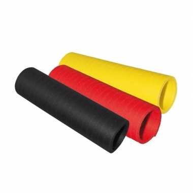 Serpentine rolletjes zwart/geel/rood x 4 meter