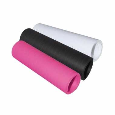 Serpentine rolletjes zwart/roze/wit x 4 meter