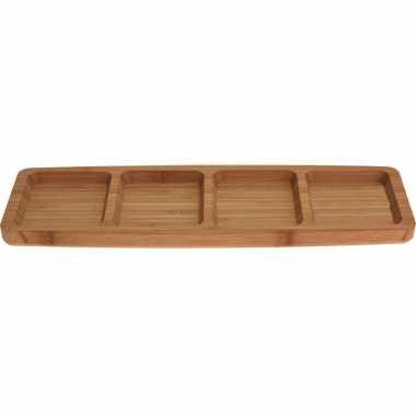 Serveer plank nootjes/hapjes bamboe 33 cm