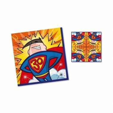 Servetten 30 jaar 33 cm superhero
