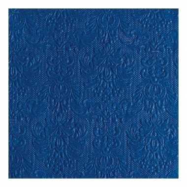 Servetten blauwe barok 3-laags 15 stuks