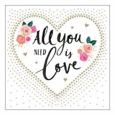 Servetten bruiloft love 3-laags 20 stuks