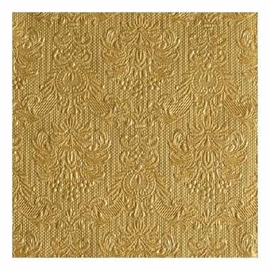 Servetten gouden barok 3-laags 15 stuks
