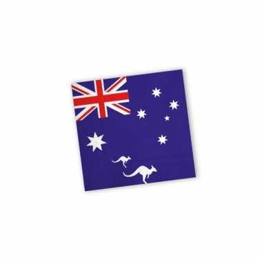 Servetten met vlag van australie 20x