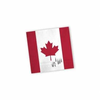 Servetten met vlag van canada 20x
