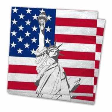 Servetten met vlag van verenigde staten 40x stuks