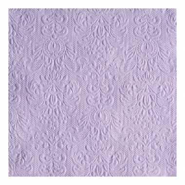 Servetten paarse barok 3-laags 15 stuks