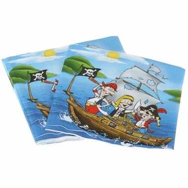 Servetten piraten eiland 16 cm