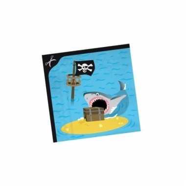 Servetten piraten eiland 33 cm