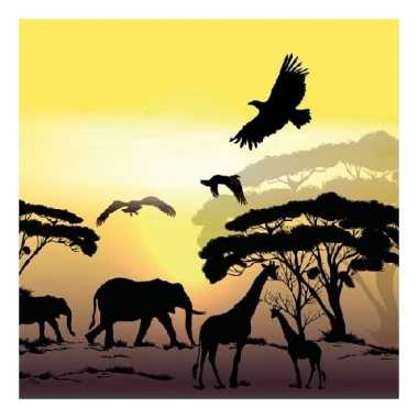 Servetten safari/jungle thema print 3-laags 20 stuks