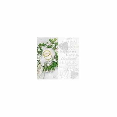 Servetten trouwringen 33 cm