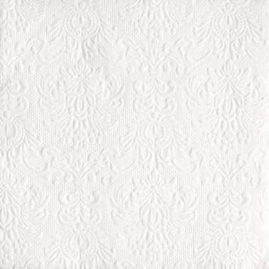 Servetten witte barok 3-laags 15 stuks