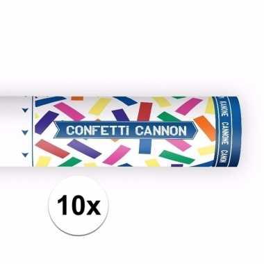 Set van 10x confetti knaller kleuren 20 cm
